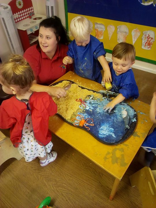 Today the babies at Tewkesbury have enjoyed decorating ...