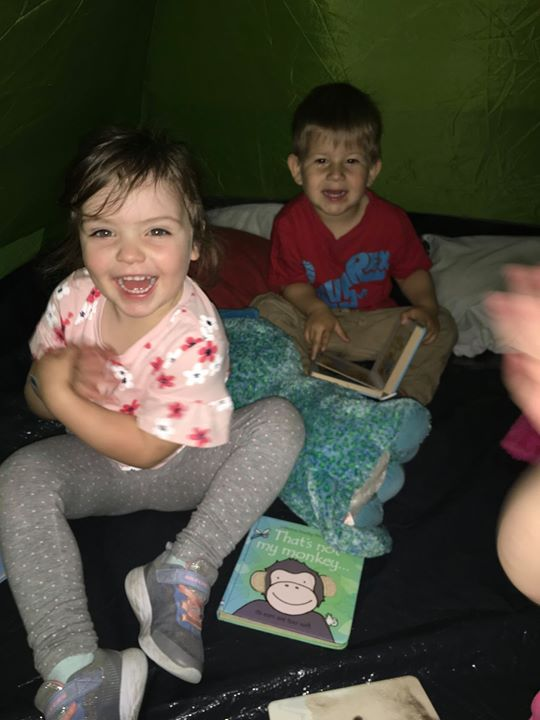 Toddlers at Tewkesbury had a really good time playing i...
